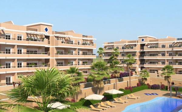 New Build Apartments In Los Dolses, Villamartin